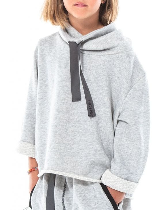 YAGU SWEATSHIRT IN GRAU FÜR KINDER
