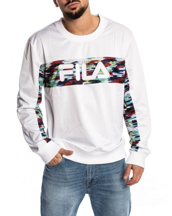 MEN WALTER OIL SLICK SWEAT-SHIRT EN BLANC