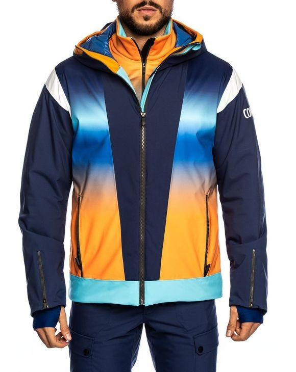 COLMAR JACKET IN BLAU, ORANGE UND GELB