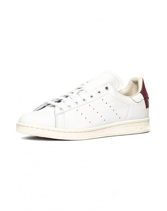 STAN SMITH SNEAKERS IN WHITE AND BORDEAUX
