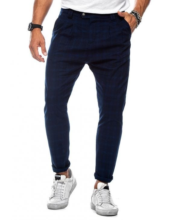 CHEYENNE CASUAL PANTS IN BLUE ROYAL