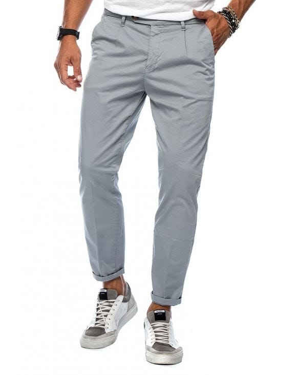 ERIC CASUAL PANTS IN LIGHT GREY