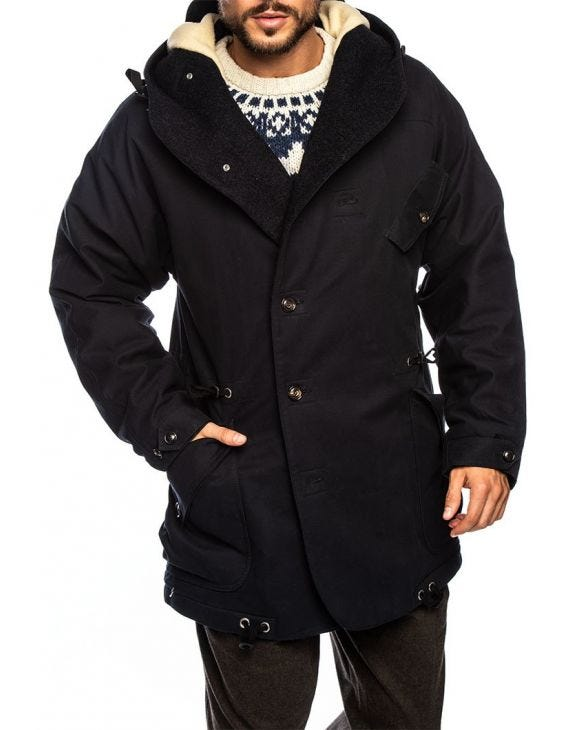 STORM PARKA IN MARINEBLAU