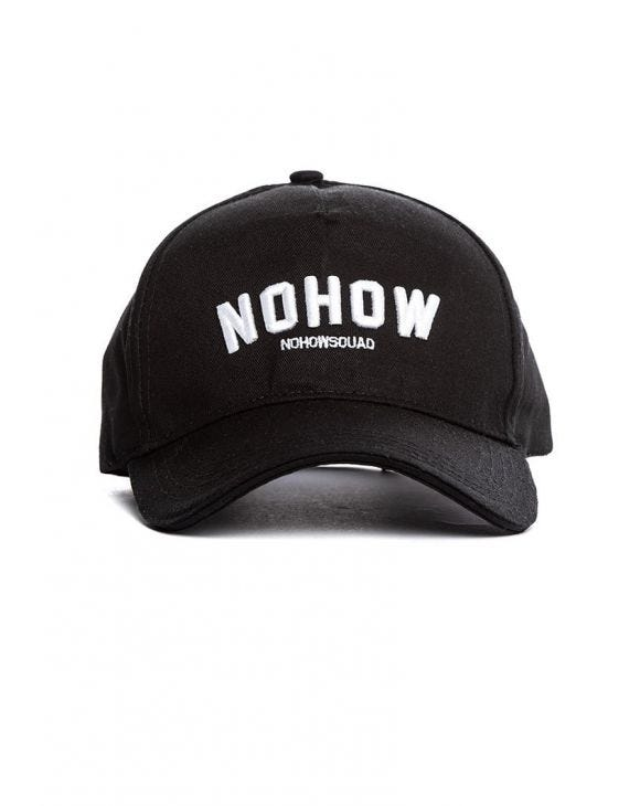 NOHOW CAP IN BLACK
