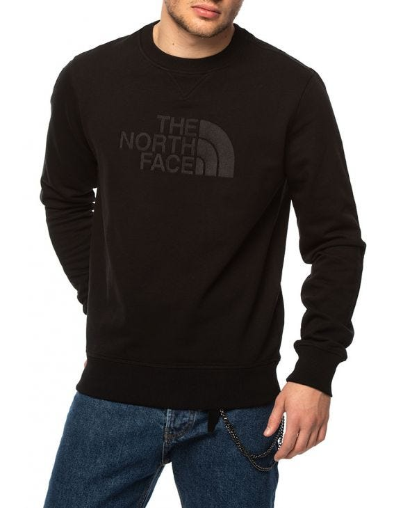 DREW PEAK CREW SWEATSHIRT IN BLACK