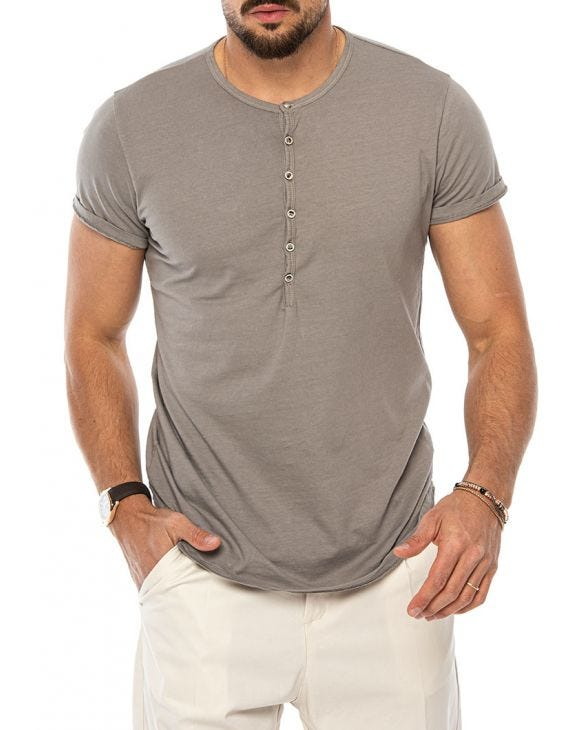 LUCAS HENLEY T-SHIRT IN MUD