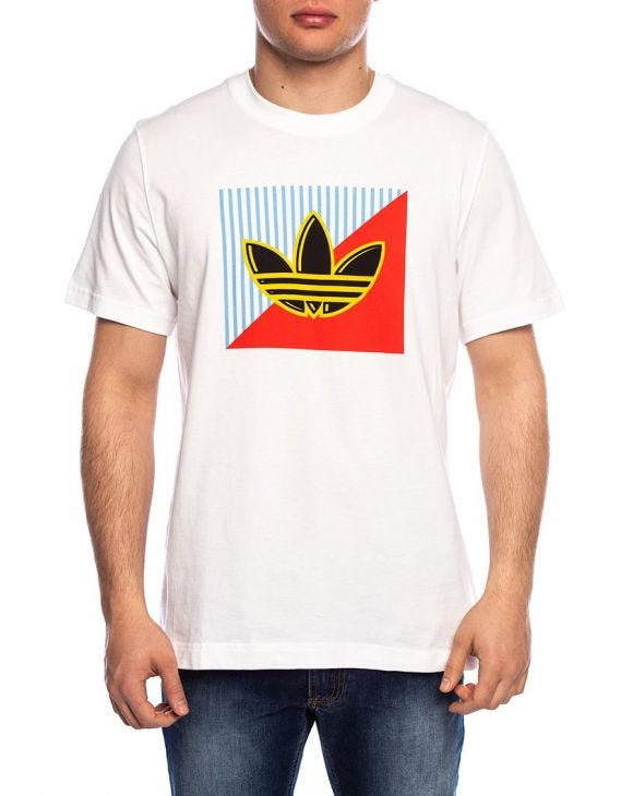 DIAGONAL LOGO T-SHIRT IN WHITE