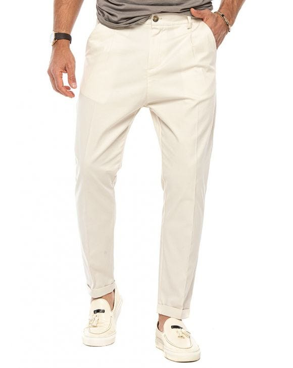 BEN CASUAL PANTS IN CREAM