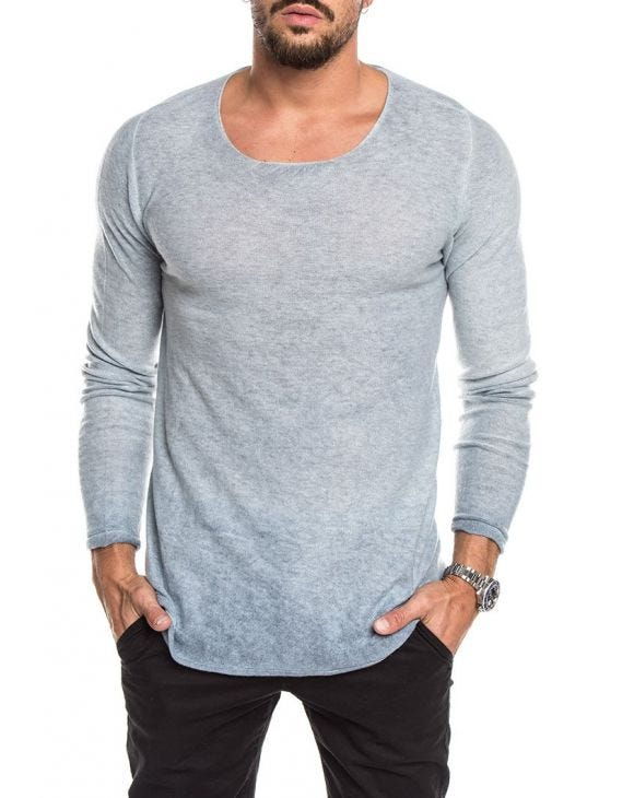 GILAN CASHMERE SWEATER IN LIGHT BLUE