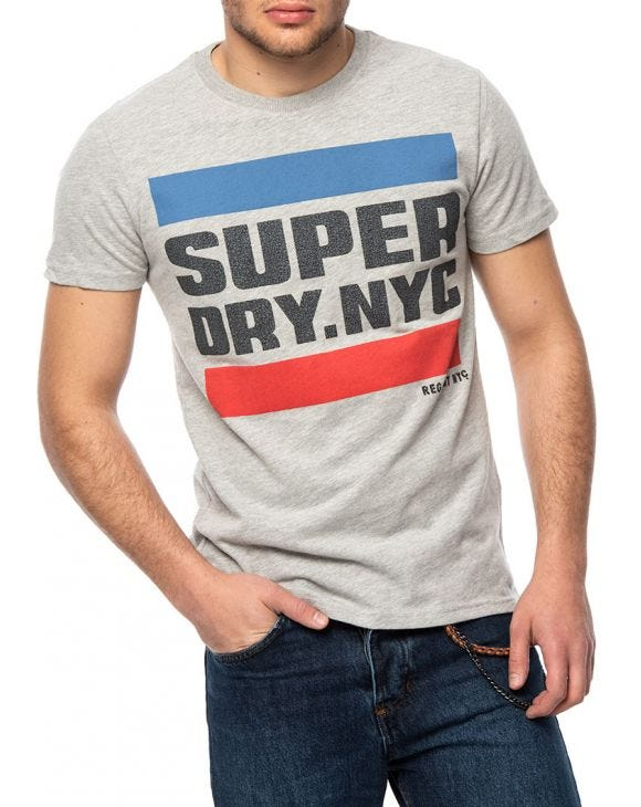 NYC TAB T-SHIRT IN GREY