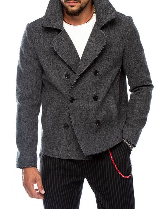 PENNYWISE PEACOAT IN LIGHT GREY
