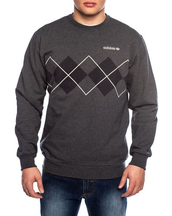 ARGYLE SWEATSHIRT IN GRAU