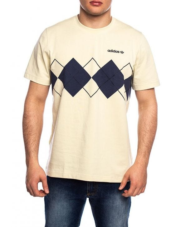 ARGYLE PRINTED T-SHIRT IN BEIGE