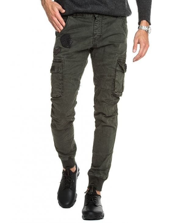 TRACK PANTS IN MILITARY GREEN