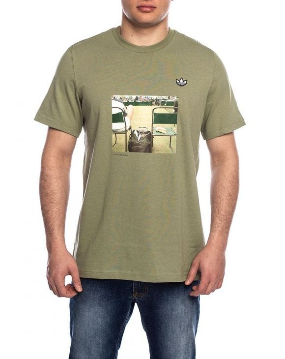 PHOTO PRINTED T-SHIRT IN GREEN