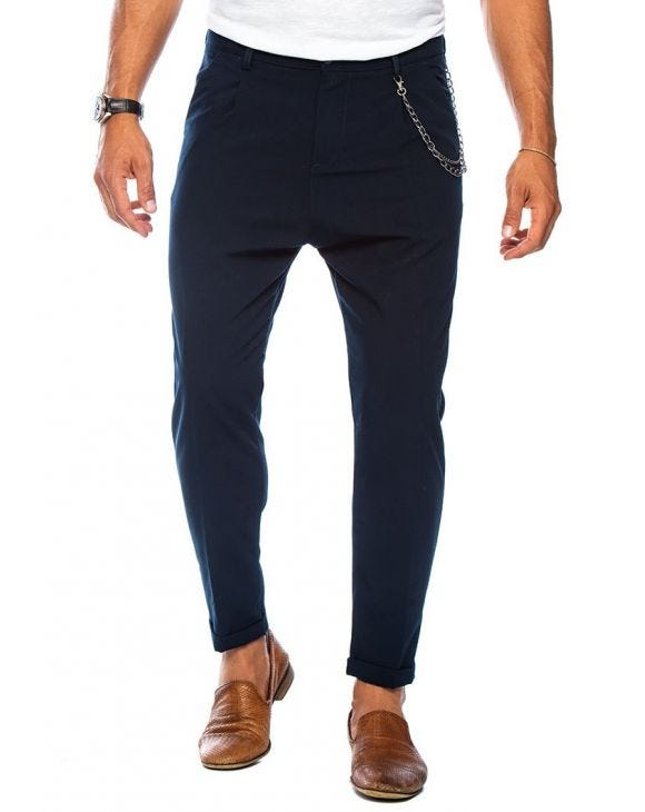 NEAL CASUAL PANTS IN BLUE