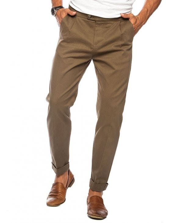 ESMOND FORMAL PANTS IN COGNAC