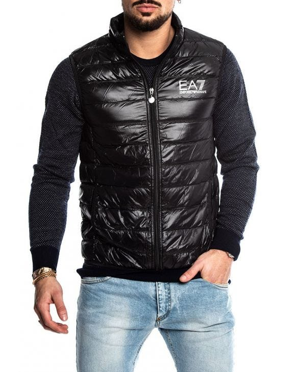 EA7 DOWN VEST IN BLACK