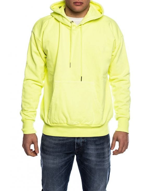 ALBY HOODIE IN YELLOW FLUO