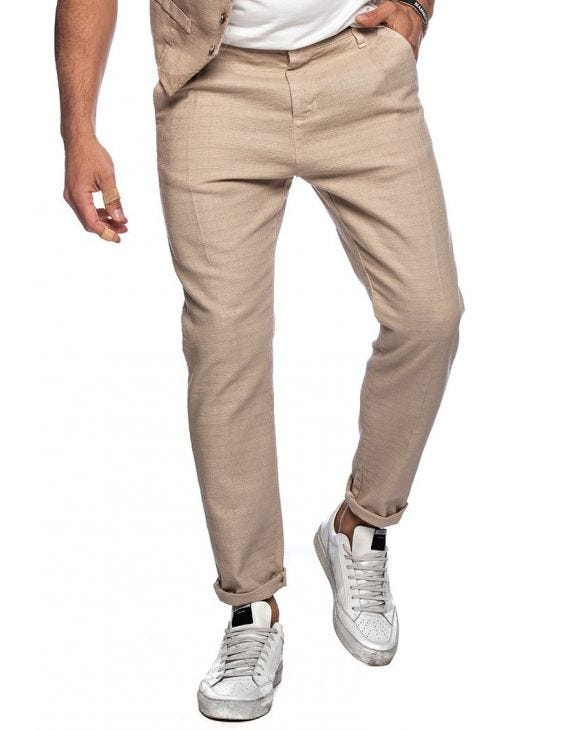 FRANK CASUAL PANTS IN BEIGE