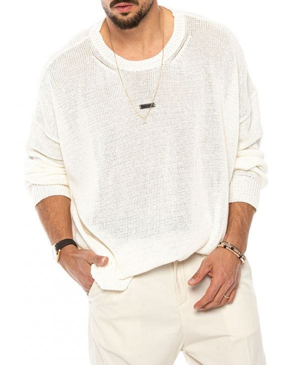 JAMES OVER SWEATER IN CREAM