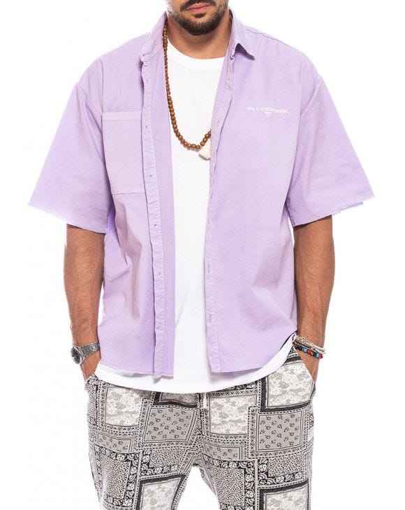 OWEN OVER SHIRT IN LILAC