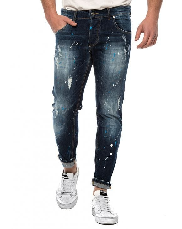 REM SPLASH BACK JEANS IN BLUE