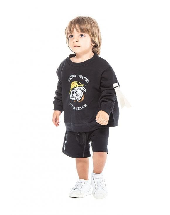 FREED SWEATSHIRT IN SCHWARZ FÜR KINDER