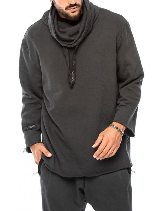 YAGU SWEATSHIRT IN ANTHRACITE