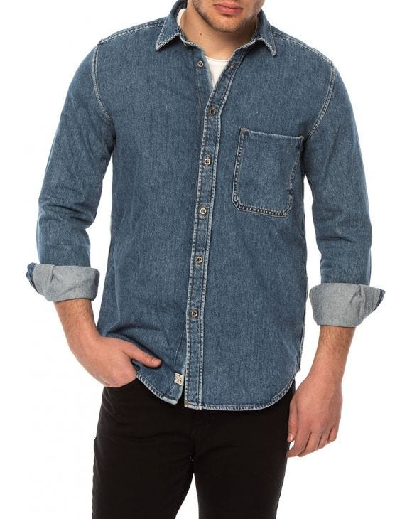 DIESEL DENIM SHIRT IN BLUE