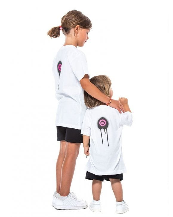 KID'S SPRAY T-SHIRT BLANC