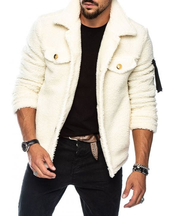 MIKE SHEARLING JACKET IN CREAM