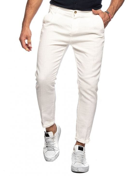 FRANK CASUAL PANTS IN WHITE