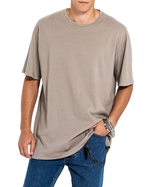 LOGAN T-SHIRT OVERSIZE IN FANGO