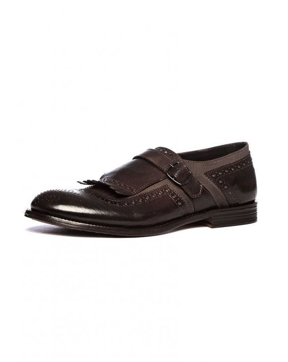 AMOS MONK STRAP SHOES IN COFFEE