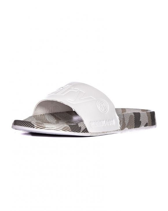 LEATHER BEACH SANDALS IN WHITE
