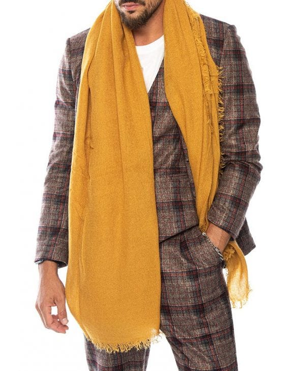 RHETT SCARF IN MUSTARD