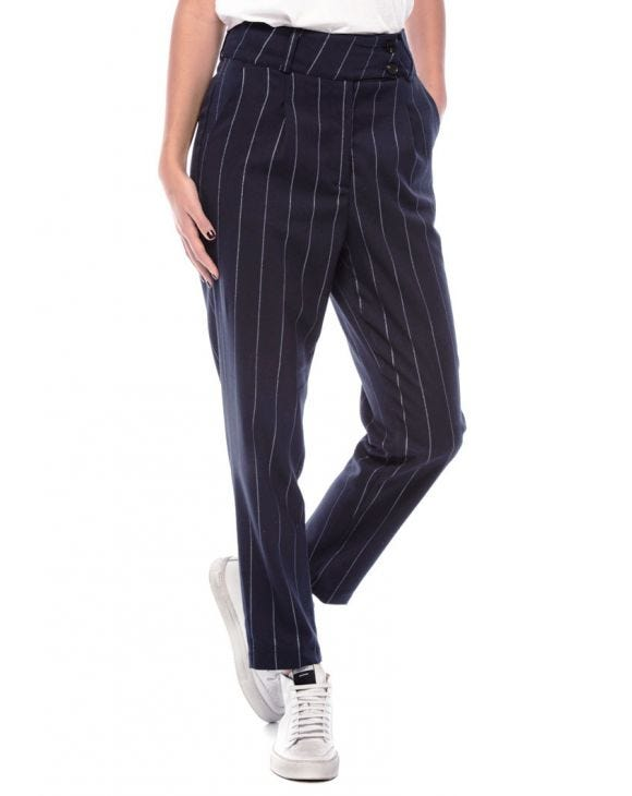 FLEUR FORMAL PANTS IN STRIPED BLUE