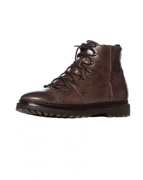 FERDY LEATHER BOOTS IN BROWN