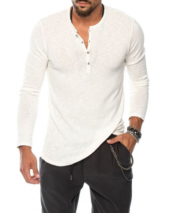 FRASER HENLEY T-SHIRT IN WHITE