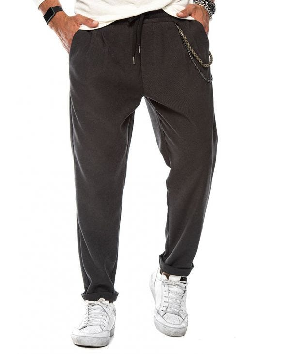LOUIE CASUAL PANTS IN GREY
