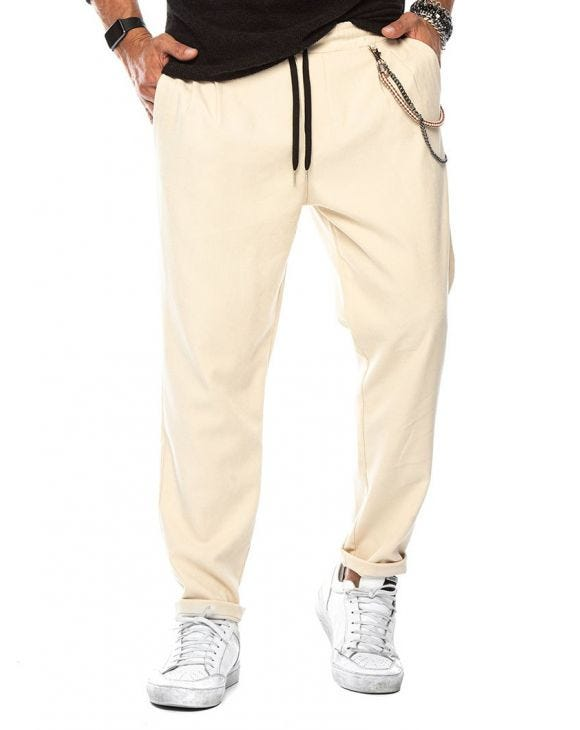 LOUIE CASUAL PANTS IN CREAM