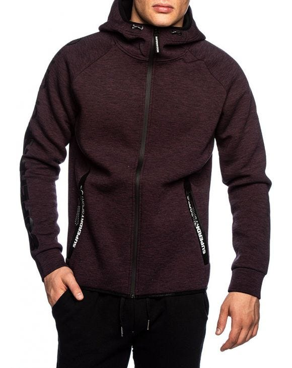 CORE GYM TECH ZIPHOOD IN VIOLETT