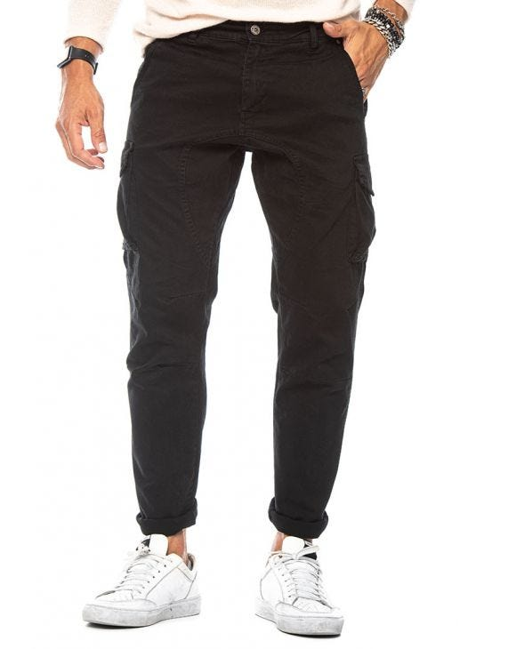 CRAIG CARGO PANTS IN BLACK