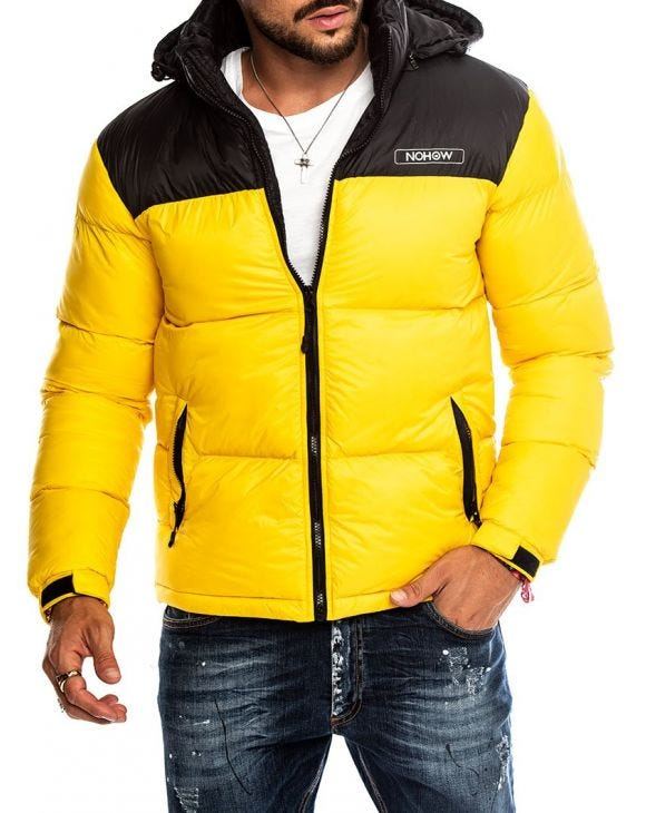 STORMI DOWN JACKET IN YELLOW AND BLACK