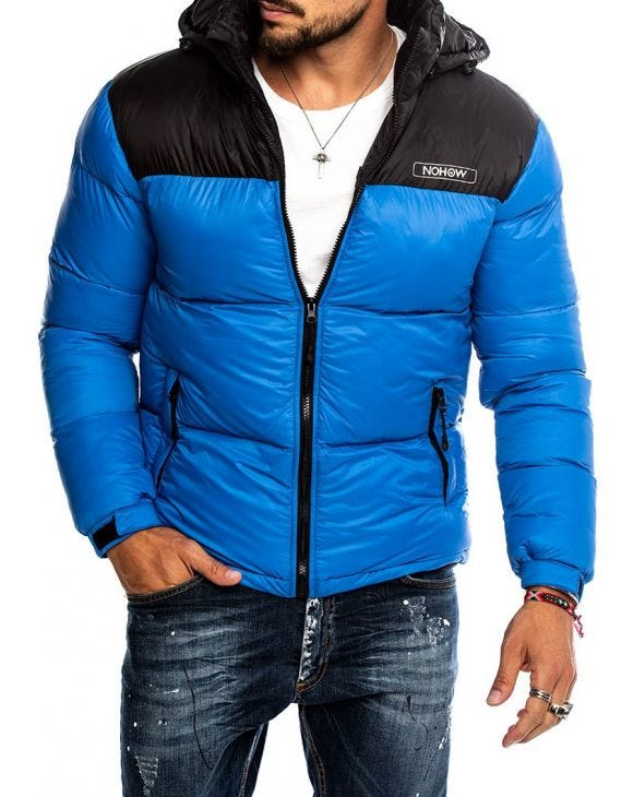 STORMI DOWN JACKET IN BLUE ROYAL AND BLACK