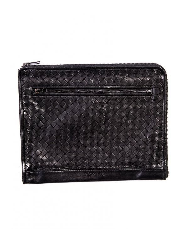 MAN LEATHER POCHETTE MARRONE