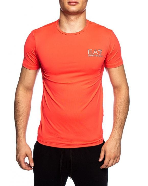 EA7 BASIC T-SHIRT IN RED LOBSTER
