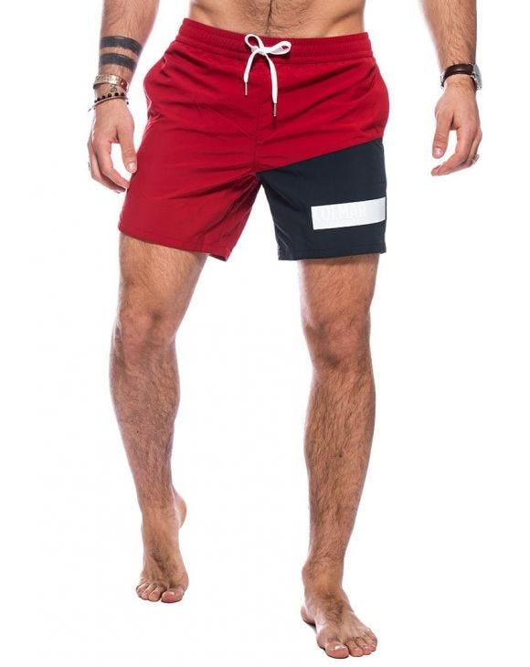 YUM COLORBLOCK-BADEHOSE IN ROT