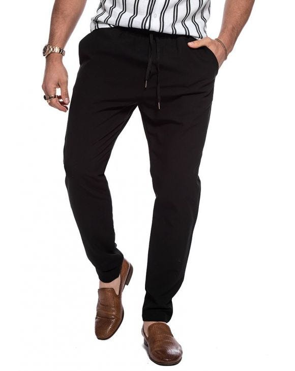 ELAN CASUAL PANTS IN BLACK